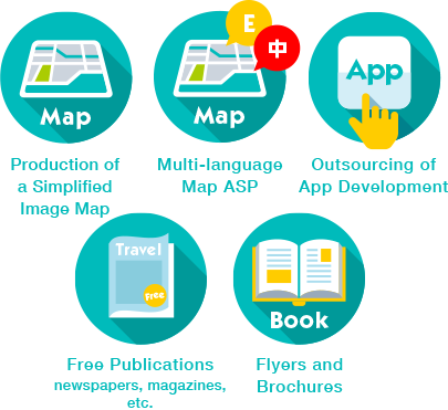 Production ofa SimplifiedImage Map, Multi-language Map ASP, Outsourcing of App Development, Free Publications newspapers, magazines, Flyers and Brochures