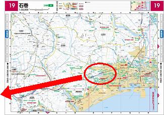 東日本大震災 復興支援地図 一例